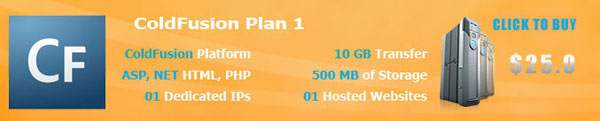 ColdFusion Hosting Plan1