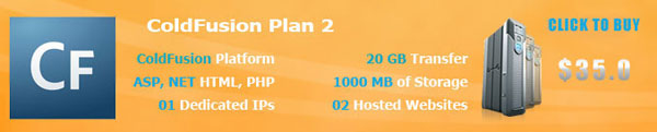 ColdFusion Hosting Plan2
