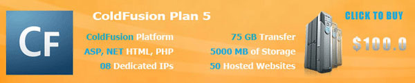 ColdFusion Hosting Plan 5